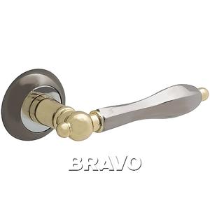 Ручка дверная BN/G Черный никель/Золото