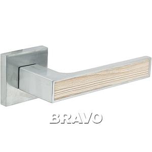 Ручка дверная BС/CA БрашХром/Капучино