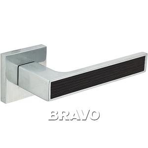 Ручка дверная BС/WE БрашХром/Венге