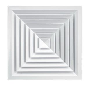 Решетка вентиляционная дифузорная АЛЬФА 600x600
