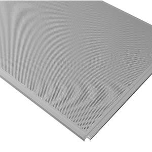 Кассетный потолок Cesal ОС Line Т-24 (Т-15) 595х595 Металлик AL 0,32мм 36шт/кор. Перф. Fd = 1.8 Profi