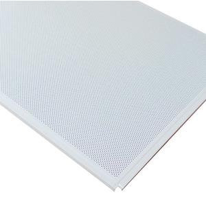 Кассетный потолок Cesal ОС Line Т-24 (Т-15) 595х595 Белый матовый 3306 AL 0,32мм 36шт/кор. Перф.
